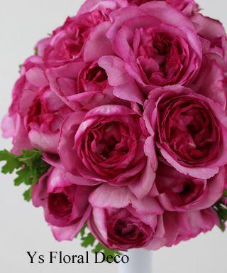 イブピアッチェのラウンドブーケ  ys floral deco  @ヨコハマインターコンチネンタルホテル