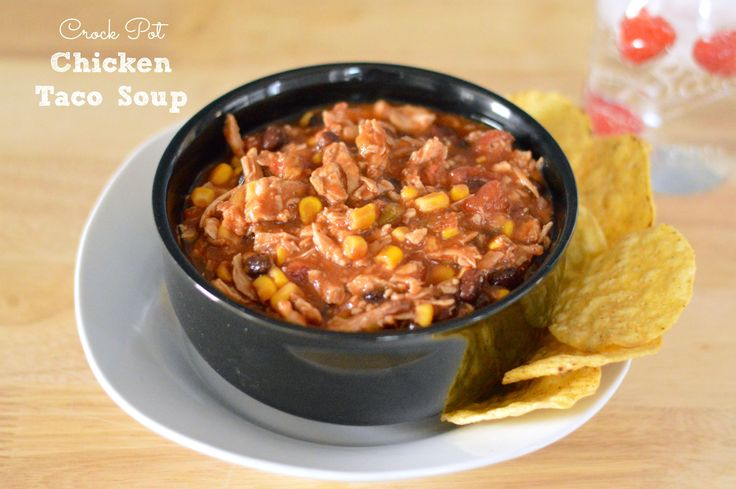 Heart-Healthy Crock Pot Chicken Taco Soup - http://www.sofabfood.com/heart-healthy-crock-pot-chicken-taco-soup/ Make dinner a fiesta with this simple and deliciousHeart-Healthy Crock Pot Chicken Taco Soup recipe. Simply toss all of your ingredients in your slow cooker in the morning and come home to a spicy and hearty flavor sensation for dinner.  We love turing to the slow cooker on busy weeknights to ...