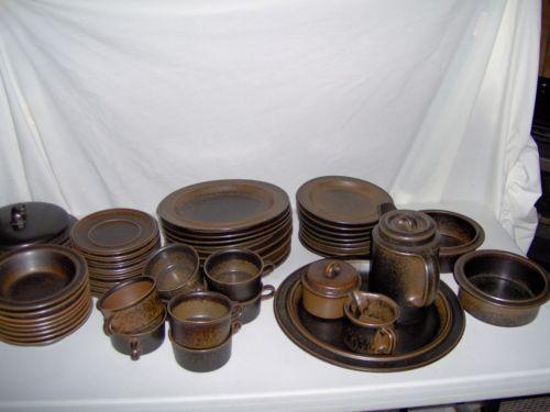 Arabia Ruska dinnerware - motled brown & 7 best Dinnerware: Pottery Ruska images on Pinterest | Cutlery ...