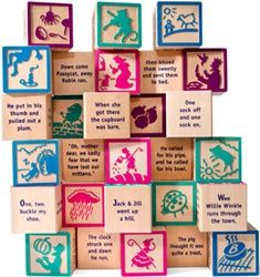 Uncle Goose Nursery Rhyme Wooden 28-Piece Block Set ~ made in the USA, $49.95