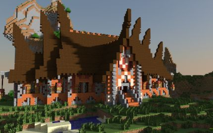 Minecraft House. Love the roof!!!