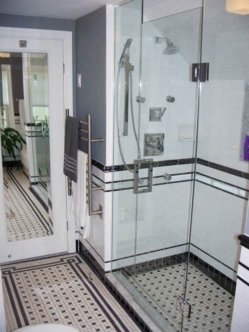 Black And White Bathroom Tiles