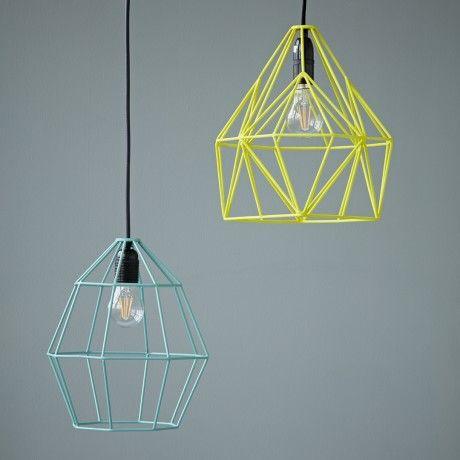 Rigby & Mac Geometric Light Shade Neon Yellow - Trouva