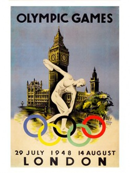 Print from the 1948 London Olympics