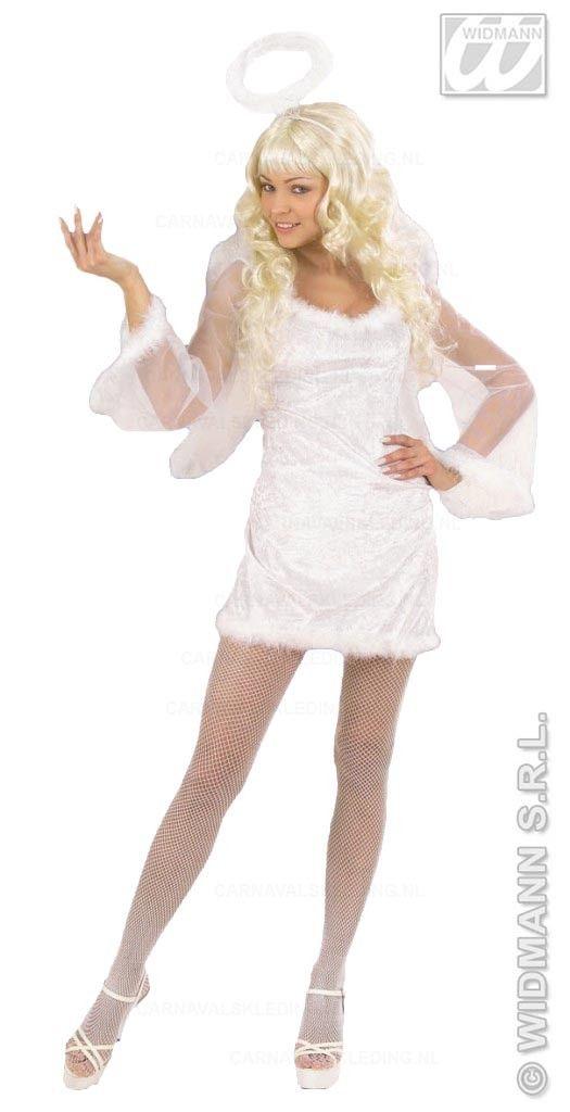 Sexy witte engel kostuum