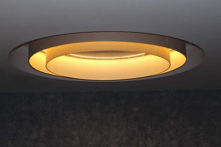 Giant double drum lampshade feature