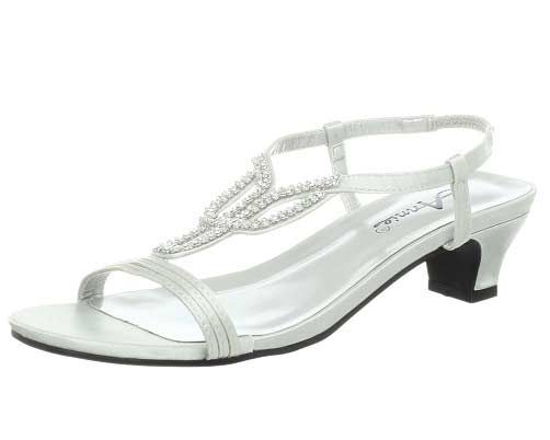 Silver satin low heel wide with comfortable prom evening bridal shoes under   20 dollars  bb968016693d