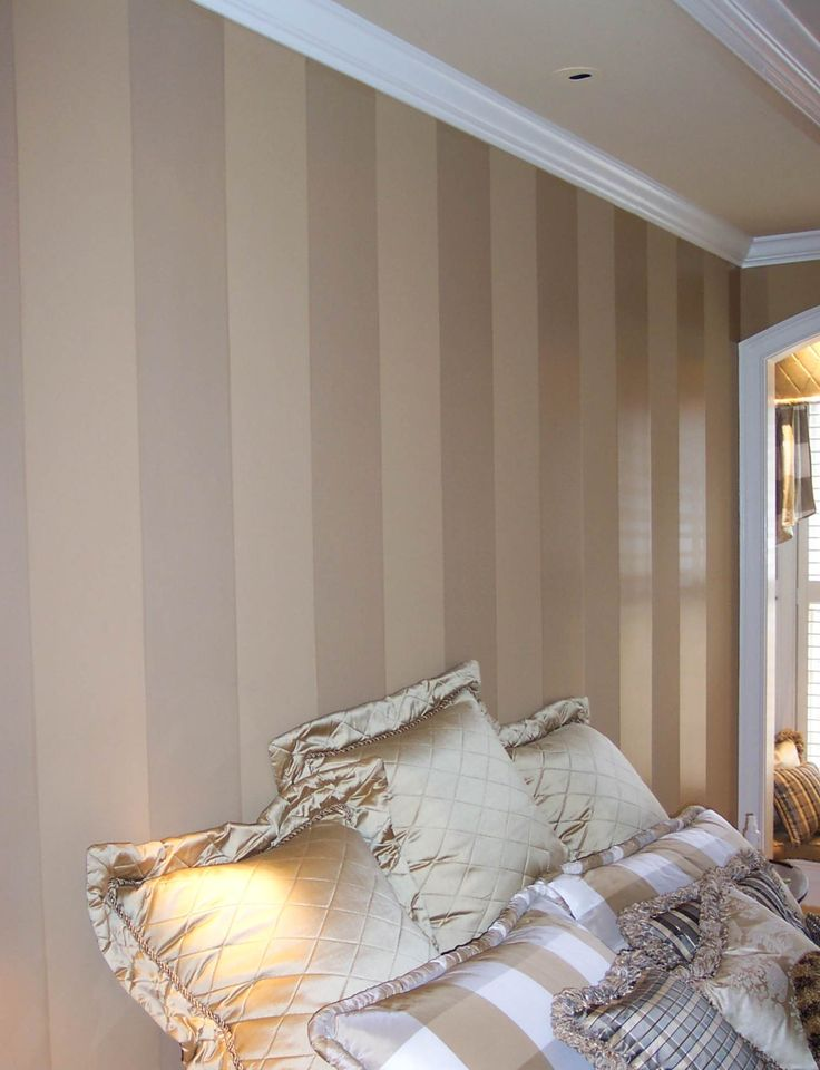 Polyurethane wall stripes would love to do this in a room for Matte finish paint for walls