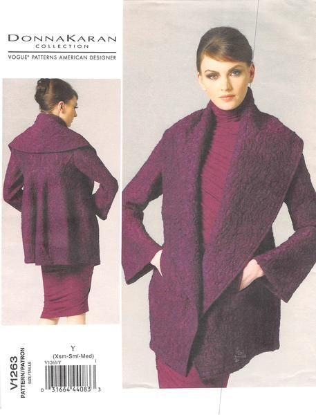 Very loose-fitting jacket has oversized shawl collar, side-front pockets and…