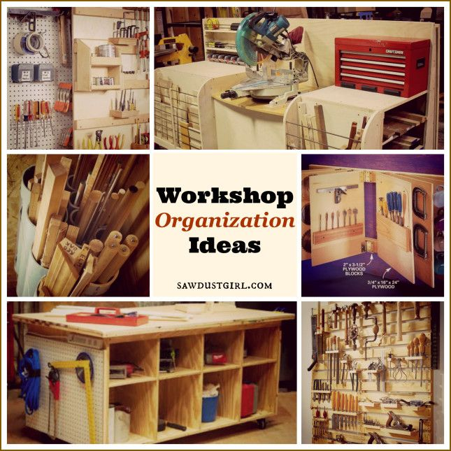 Workshop Organization Ideas - lots of great ideas, no matter what size your space is.