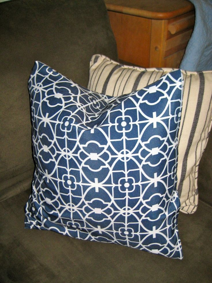 "Easy Peasy No-Sew Pillow ""Envelope"" Style Covers 