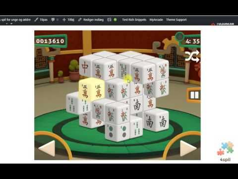 Spil fra 4 spil - Mahjong 3D