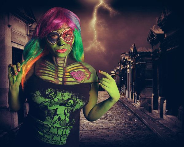 Zombie Comic Come To Life by  @melmodel  MelHeflin.deviantart.com on @DeviantArt Body Painting By @Samanthawpg.com