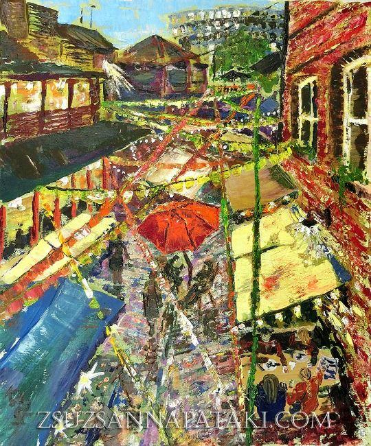 London Waterways   Zsuzsanna Pataki Original Acrylic Paintings and ...