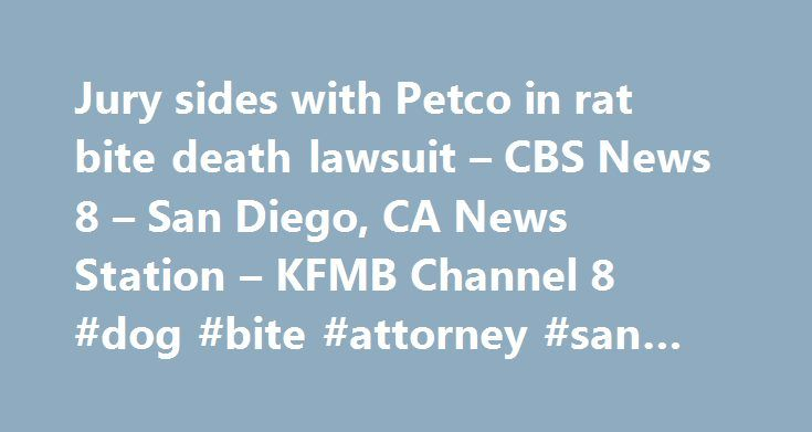 Jury sides with Petco in rat bite death lawsuit – CBS News 8 – San Diego, CA News Station – KFMB Channel 8 #dog #bite #attorney #san #diego http://papua-new-guinea.nef2.com/jury-sides-with-petco-in-rat-bite-death-lawsuit-cbs-news-8-san-diego-ca-news-station-kfmb-channel-8-dog-bite-attorney-san-diego/  # Jury sides with Petco in rat bite death lawsuit – CBS News 8 – San Diego, CA News Station – KFMB Channel 8 SAN DIEGO (CNS) – Petco Animal Supplies is not liable for the death of a 10-year-old…