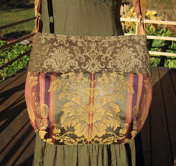 Renaissance Feel Boho Hippie Gypsy Cross Body Messenger Purse