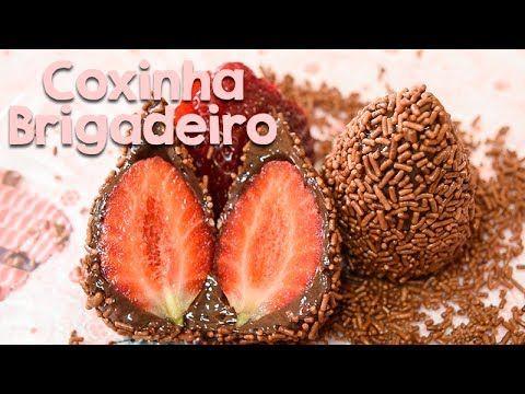 COXINHA DE BRIGADEIRO COM MORANGO | Amanda Hossoi