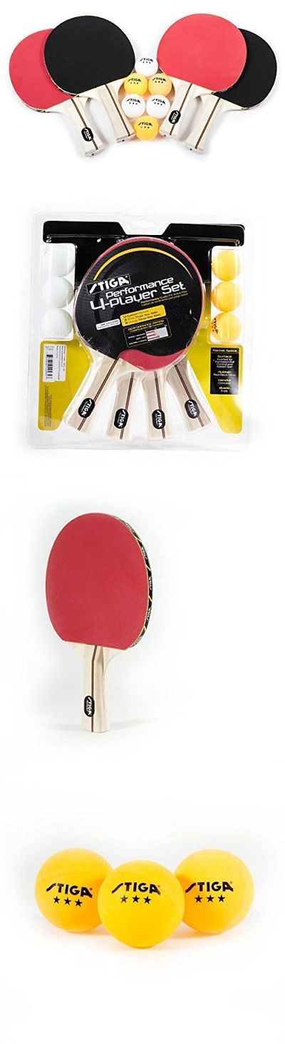 Paddles 36277: Stiga Performance 4-Player Table Tennis Racket Set -> BUY IT NOW ONLY: $48.32 on eBay!