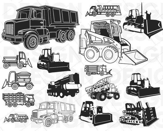 Heavy Equipment Svg Construction Svg Vehicles Svg Dump Etsy In 2020 Svg Heavy Equipment Vintage Truck