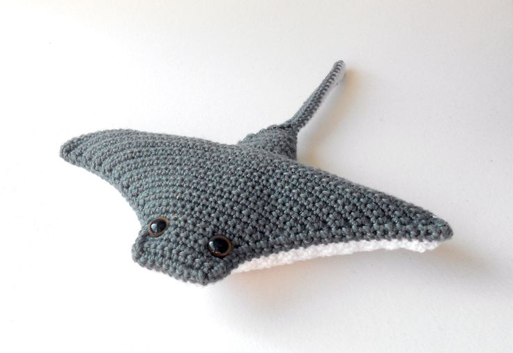 #amigurumi #crochet #mantaray