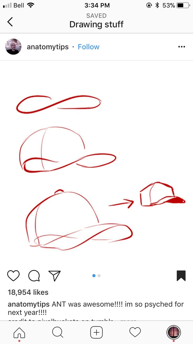 How to draw a capped hat