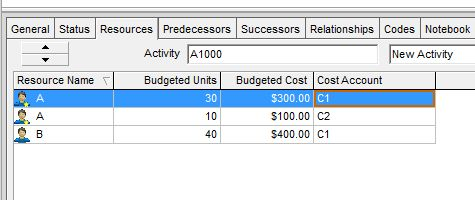 What is Cost Account in Primavera P6 used for?