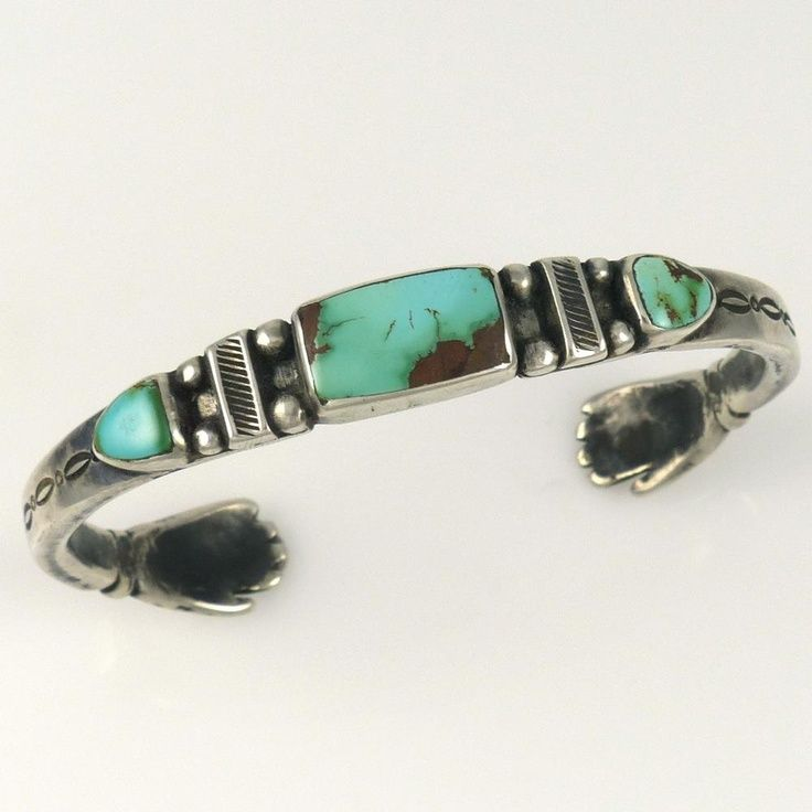 Royston Turquoise Cuff by Jock Favour. Sterling Silver Cuff ...