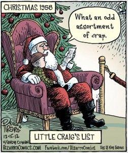 Little Craig's List Christmas 1958