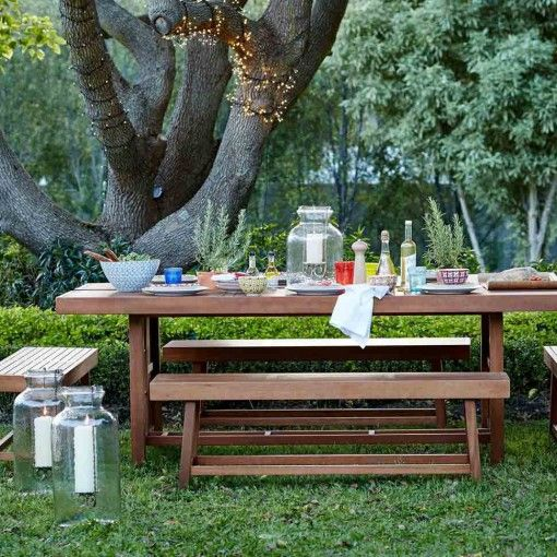 Perfect For An Informal Party You Can Always Squeeze One More Onto A Bench