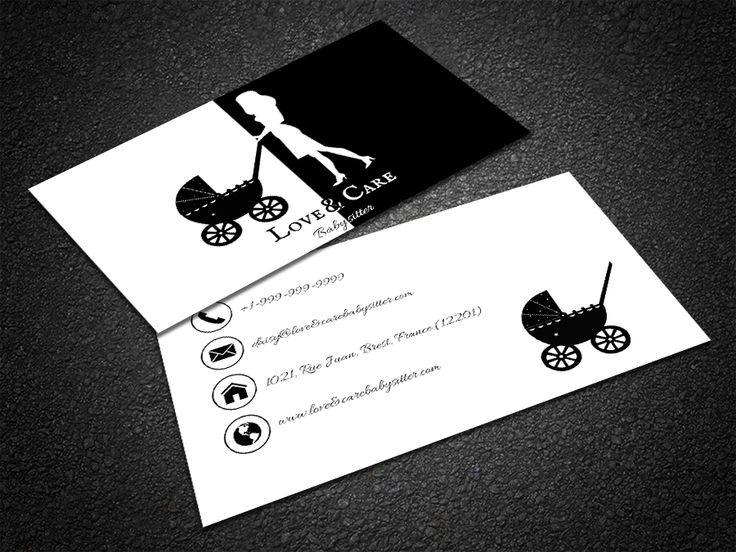 35 best free professional business card edit online and download free free daycare business card reheart Images