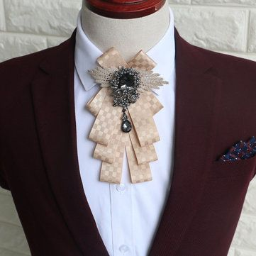 Fashion Mens Vintage Wedding Groomsmen Bow Flower Collar England Men's Business Suits Bowknots Tie at Banggood