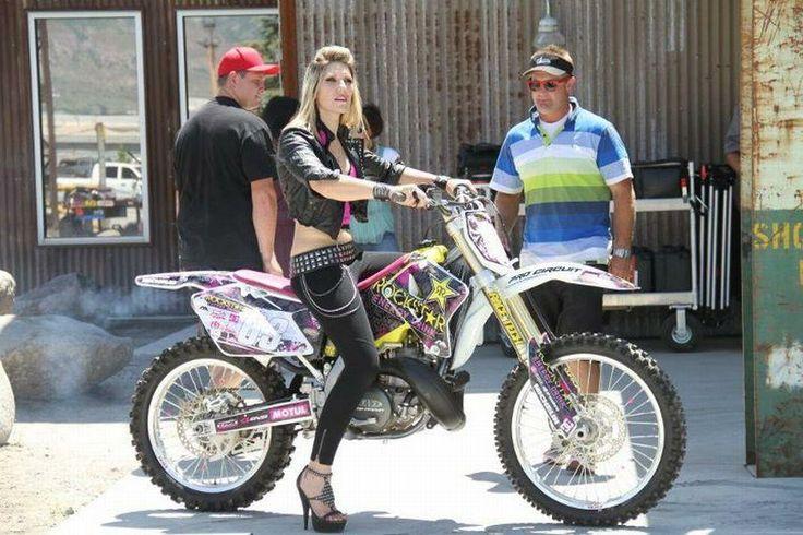 Jolene from Nitro Circus. My hero! i want her bike