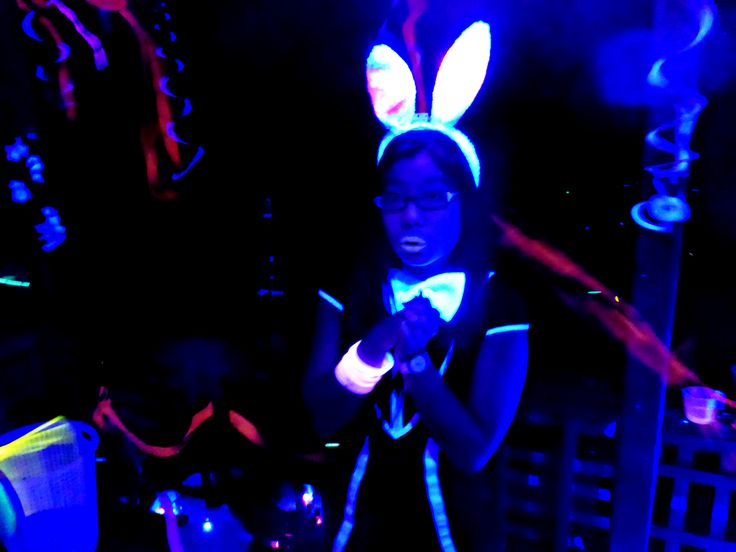 The cutest bunny I've ever seen! | Black Light Party | Cosmic Events