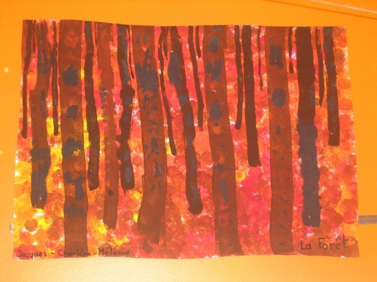 Art enfantin: Forêt...