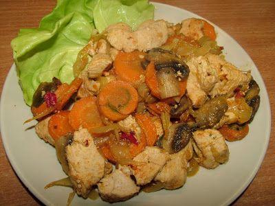 Smak Zdrowia: Gulasz z marchewką i pieczarkami
