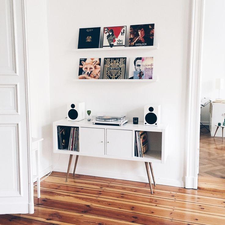 Vinyl-Love \u003c3 #wohnzimmer #ikeahack #ikea #altbau #v Möbel