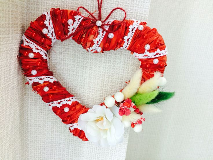 Валентинка из соломы