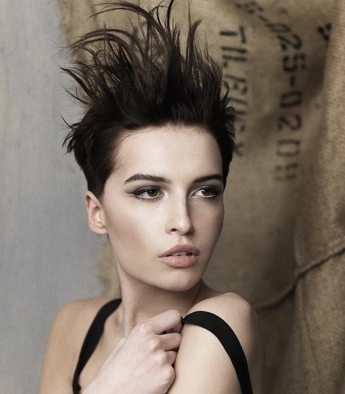 Summer Short Mohawk Hairstyle 2012 For Women
