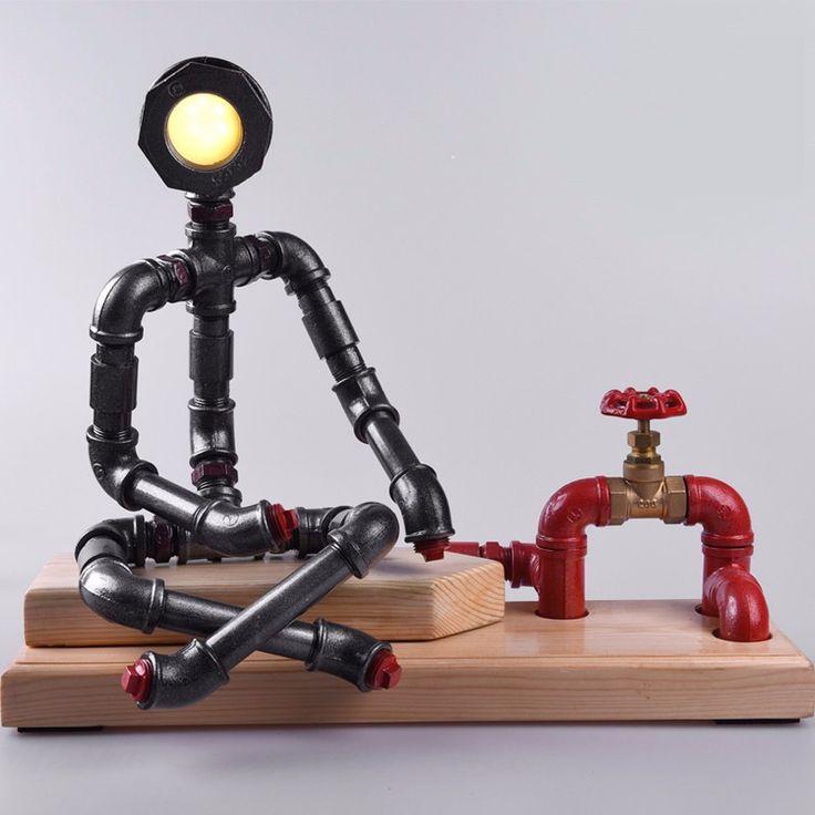 pipe robot lamp