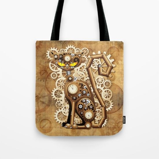SOLD! #Steampunk #Cat #Vintage #Style #Tote #Bag by #BluedarkArt | #Society6 #Shop   https://society6.com/product/steampunk-cat-vintage-style_bag#26=197    #Design #Copyright_BluedarkArt   Buy Steampunk Cat Vintage Style Tote Bag by BluedarkArt. Worldwide shipping available at Society6.com. Just one of millions of high quality products available.