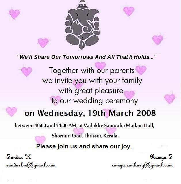 Tamil Wedding Invitation Wordings