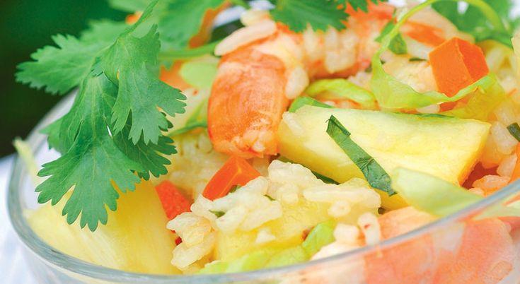 Recette de #salade aux #crevettes et à l' #ananas