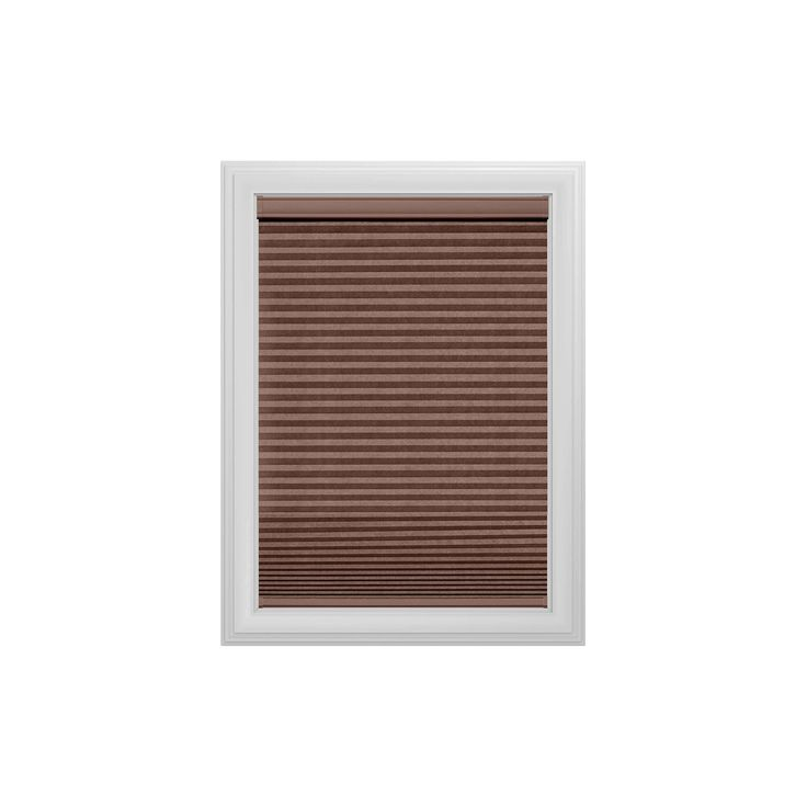 """Cordless Light Filtering Cellular Shade Slotted Window Blind Truffle 71""""x36"""" - Bali Essentials, Brown"""