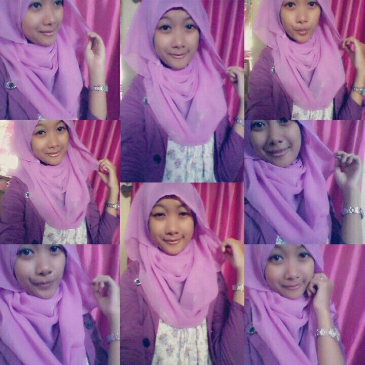 #me #selca #hijab #purple #cute #pinit #like #love #followme #indonesia