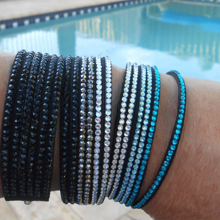 Beautiful crystal Slake Bracelets - must have for Summer - Only $15.95 each - http://lily316.com.au/product-category/ladies/ladies-fashion/bracelets-ladies-vintage/