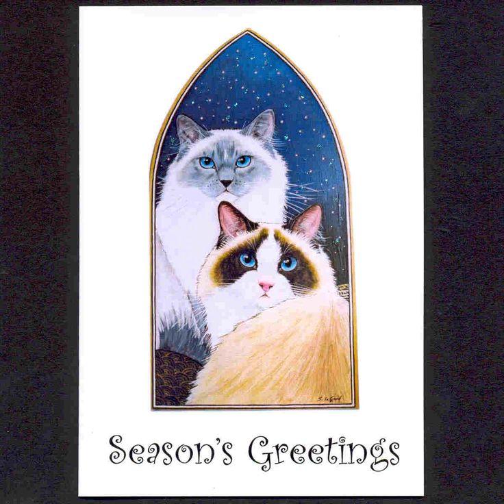 Ragdoll cat ornaments christmas