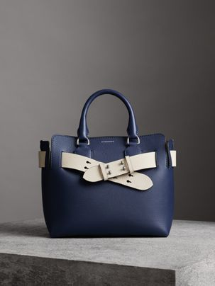 a77ab46fe1 The Small Leather Belt Bag in Regency Blue - Women | Burberry United States