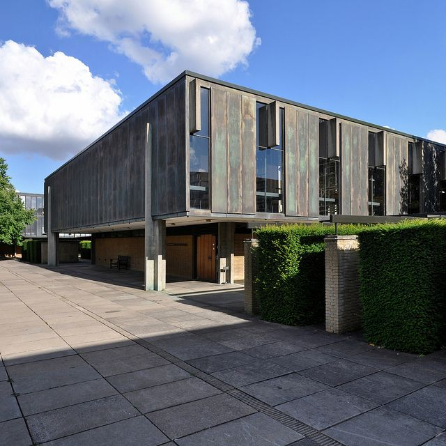 St Catherine's College, Oxford, 1959-1965. Architect: Arne Jacobsen