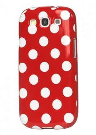 Coque rouge à pois blancs Galaxy S3  8,29€