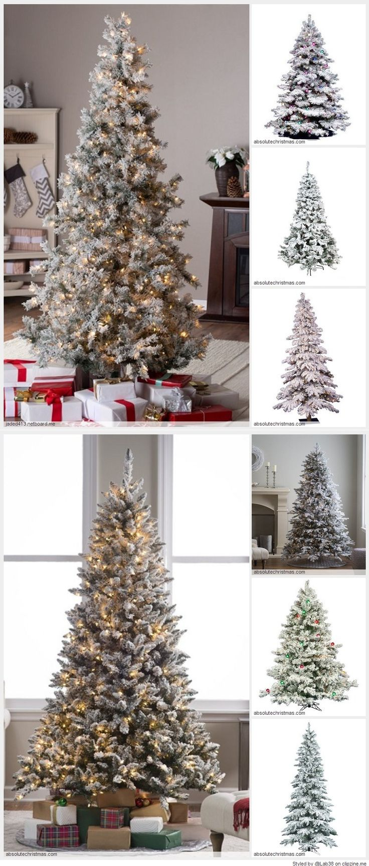 Flocked Fake Christmas Trees turn your home